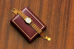 Gold watch. Stock Images