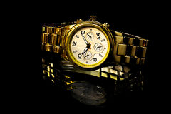 Gold watch Royalty Free Stock Photo