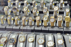 Gold watches Stock Image