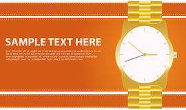 Gold watches Royalty Free Stock Photo