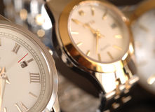 Gold watches Stock Photo