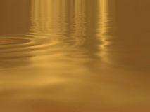 Gold water Royalty Free Stock Photo