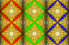 Gold water lily pattern Stock Image