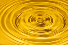 Gold water ripple abstract background Royalty Free Stock Photo