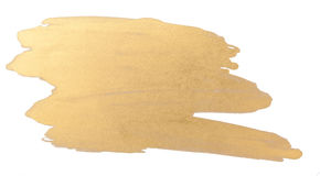 Gold watercolor texture brush stroke Royalty Free Stock Photo