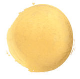 Gold watercolor texture brush stroke. Gold watercolor texture paint stain   shining brush stroke Stock Image