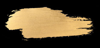 Gold watercolor texture brush stroke stock photography