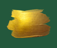 Gold watercolor texture paint stain abstract Royalty Free Stock Photo