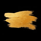 Gold watercolor texture paint stain abstract illustration. Shining brush stroke for you amazing design project Royalty Free Stock Photos