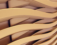 Gold wave abstract background. Abstract background of gold metal in wave form Stock Photography
