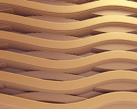 Gold wave abstract background Royalty Free Stock Photos