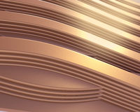 Gold wave abstract background Stock Photography