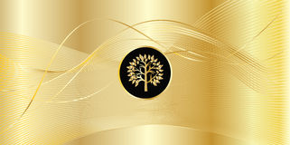 Gold wave background Royalty Free Stock Images