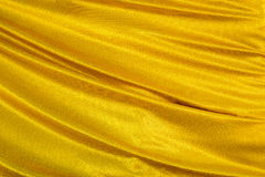 Gold wave textile Stock Image