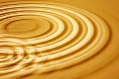 Gold waves Royalty Free Stock Image