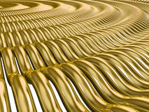 Gold Waves. Abstract gold waves 3D Render Royalty Free Stock Photos