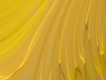 Gold wavy curves Stock Images