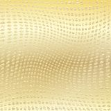 Gold wavy dotted background Stock Images