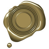 Gold Wax Seal Stock Photography