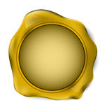 Gold wax seal stamp. vector illustration. Stock Photo