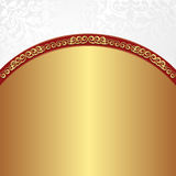Gold wbackground. Gold white background with ornaments Royalty Free Stock Photography