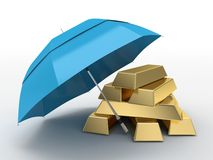 Gold or wealth protection Stock Photos