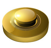 Gold web button Royalty Free Stock Images