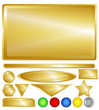 Gold web buttons and bars Royalty Free Stock Photography