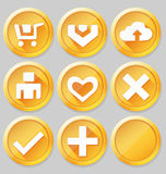Gold web icons Royalty Free Stock Photography