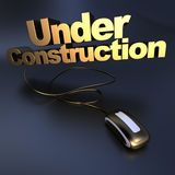 Gold Web Under construction Stock Image