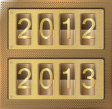 Gold website element number 2012 2013. Illustration of gold website element with number 2012 2013 Stock Photos