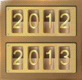 Gold website element number 2012 2013 Stock Photos