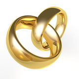 Gold Wedding Bands Royalty Free Stock Photography