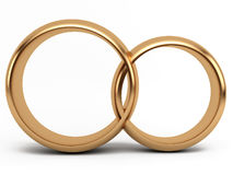 Gold wedding ring. S on white background Stock Images