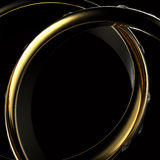 Gold Wedding Ring with diamond Stock Photo