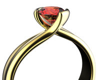 Gold Wedding Ring with diamond. Holiday symbol. Gold Wedding Ring with diamond  background Royalty Free Stock Photos
