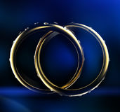 Gold Wedding Ring with diamond. Holiday symbol Royalty Free Stock Photography