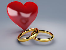 Gold wedding ring Royalty Free Stock Photography