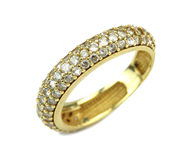 Gold wedding ring Stock Photography