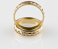 Gold wedding rings. Close up Stock Photography