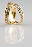 Gold wedding rings. Photo with reflexion Stock Photo