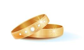 Gold wedding rings. Illustration of gold wedding rings royalty free illustration