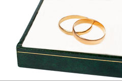 Gold wedding rings Stock Images