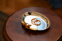 Gold Wedding Rings Royalty Free Stock Photos