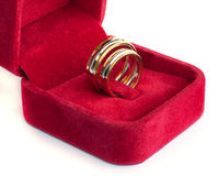 Gold wedding rings. Royalty Free Stock Photos