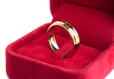 Gold wedding rings. Stock Images