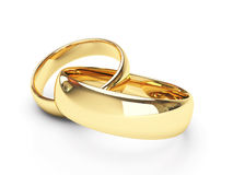 Gold wedding rings Stock Photos