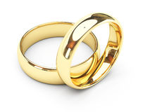 Gold wedding rings Stock Photography