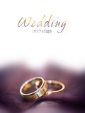 Gold wedding rings caed Stock Photo