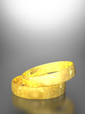 Gold wedding rings. 3D illustration of gold wedding rings vector illustration